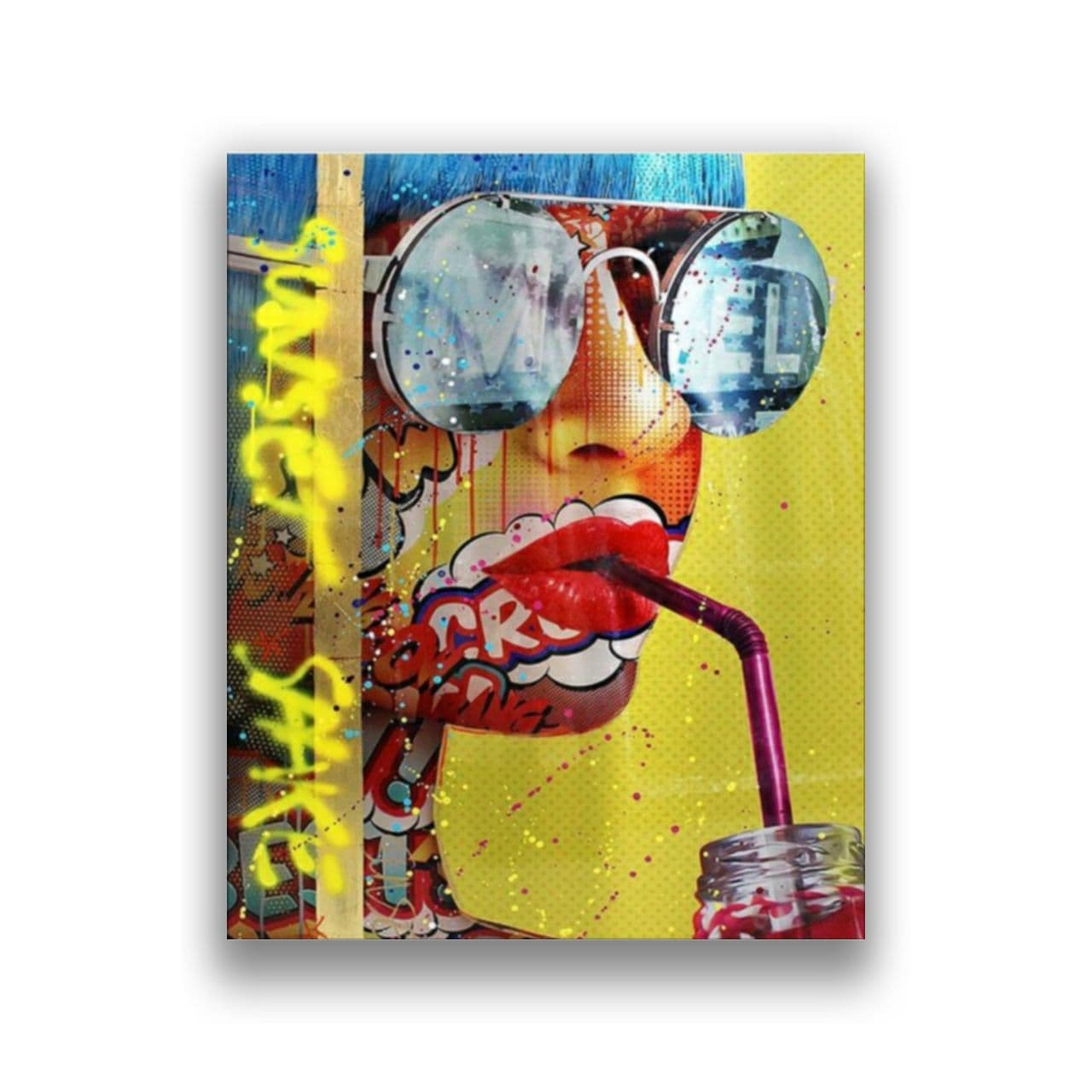 Graphiti woman with sun glases1