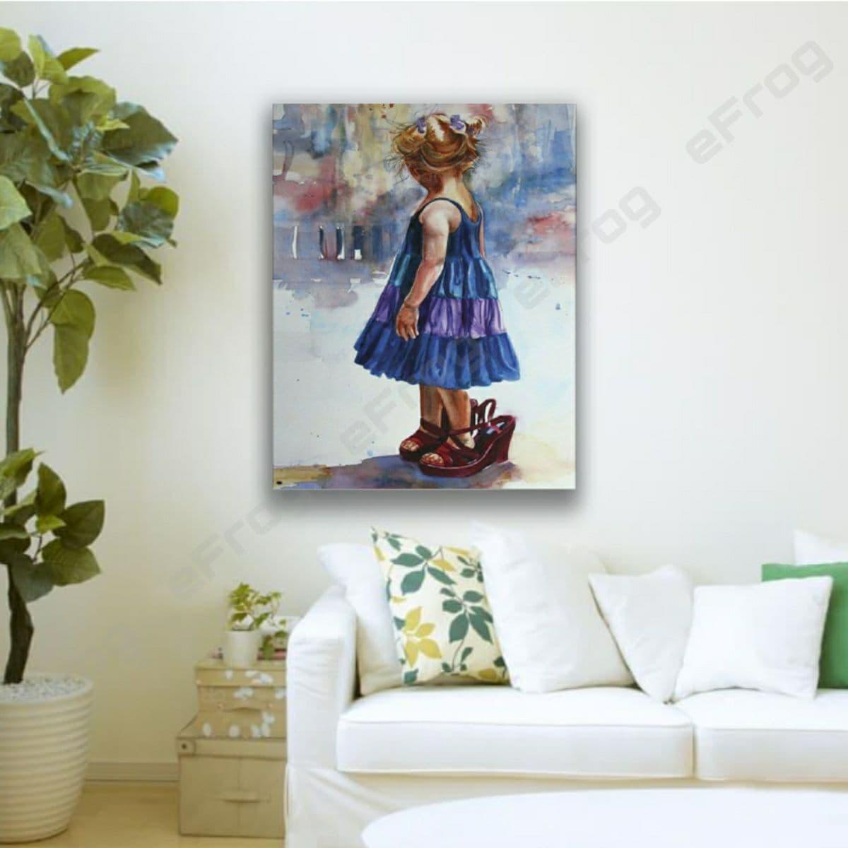 Little girl in blue dress1