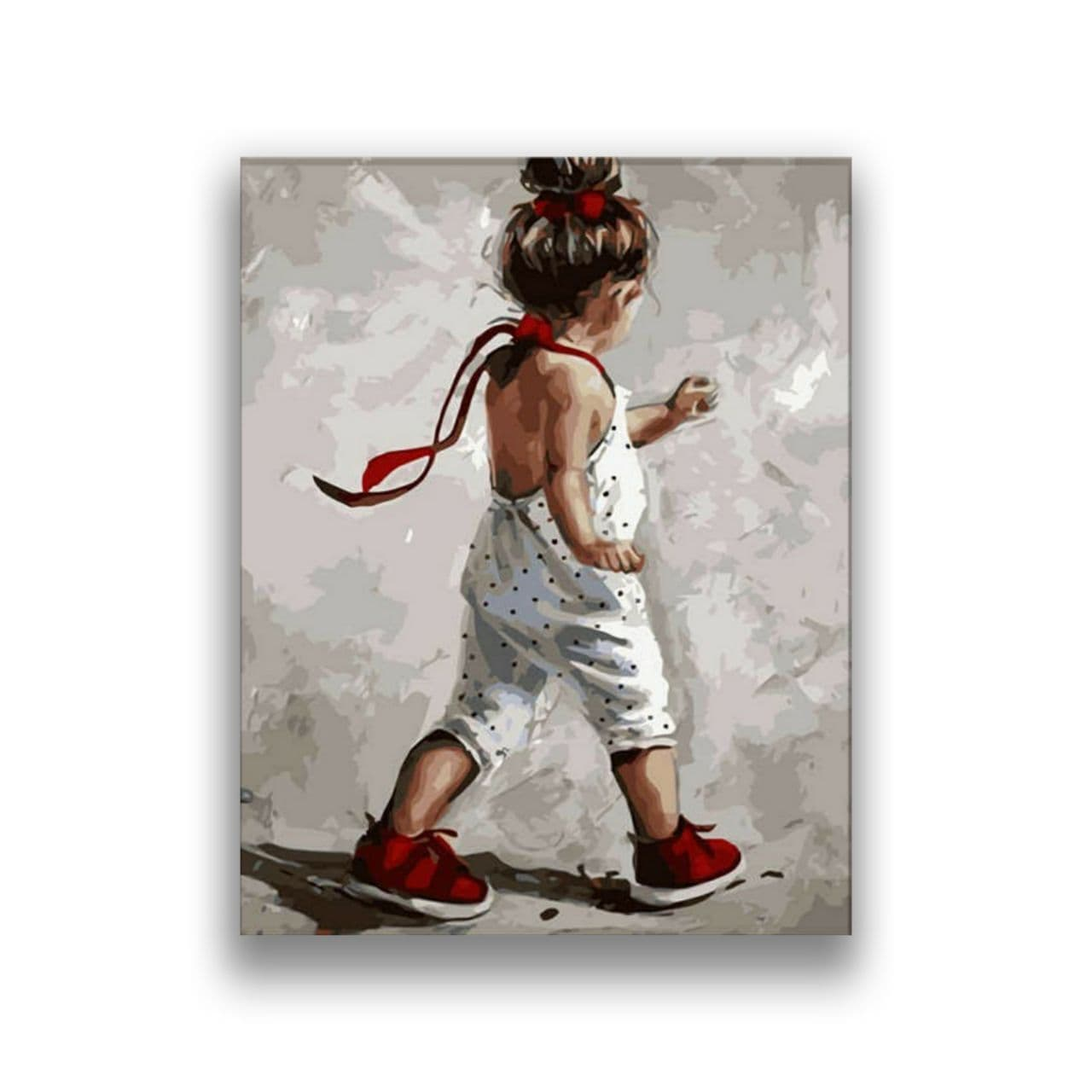 Little girl in red shoes1