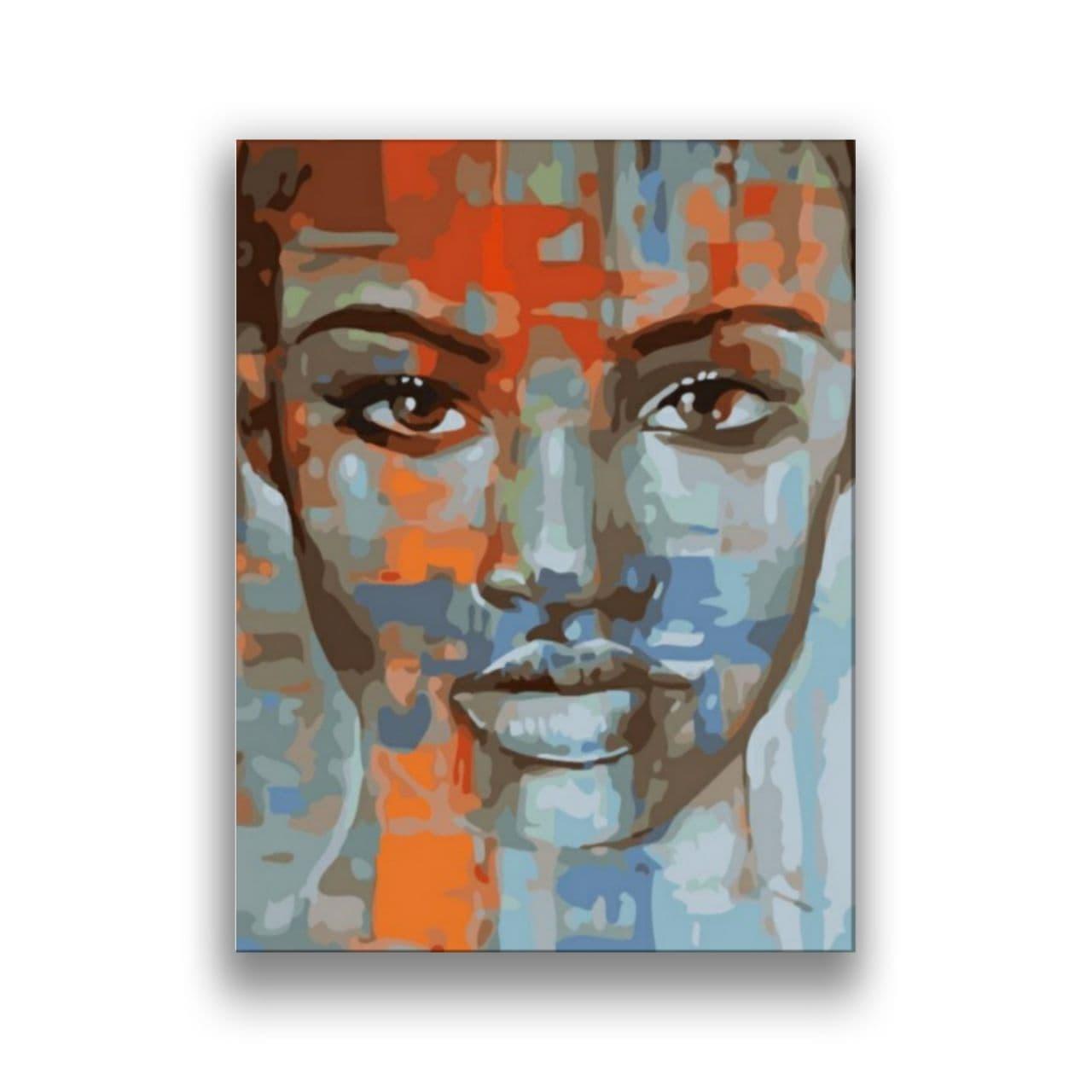 Womans face art