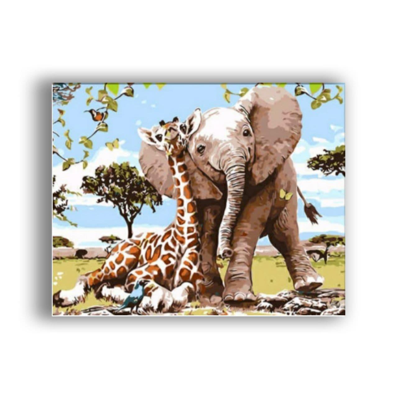 giraffe and elephant1