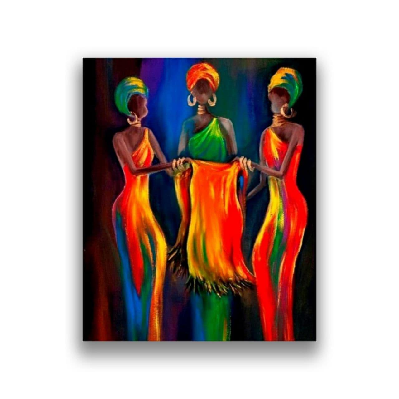 three tribe woman