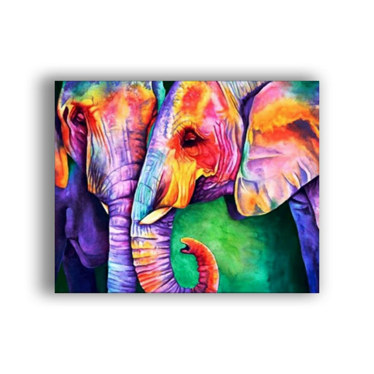 two elephants colored