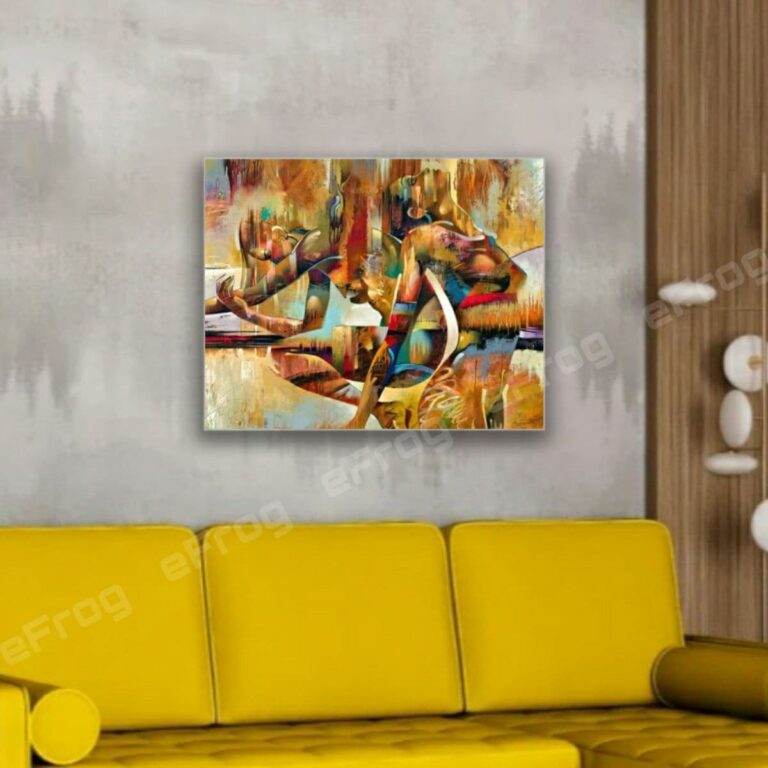 Abstraction Art Gold 1