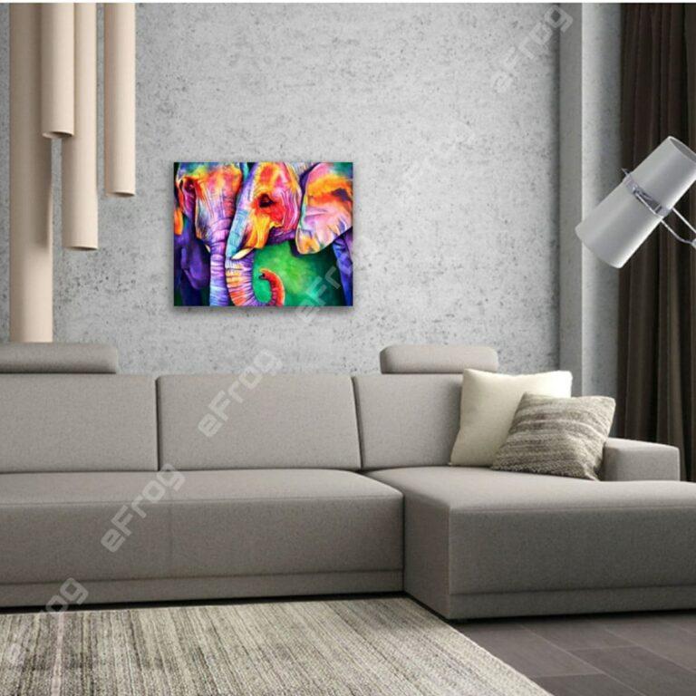 Colored Elephants1