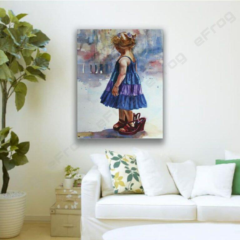 Little girl in blue dress1 1